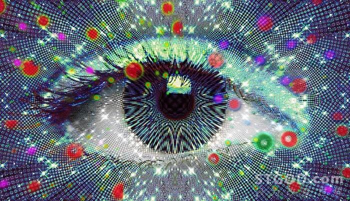 闭上眼睛看到的颜色是什么?